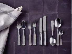 Piet Hein tafelcouvert 3-delig updated 2019 design (long blade) (lepel, mes, vork)